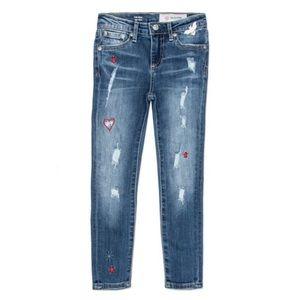 AG | The Ella super skinny embroidery jean size 8